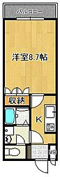 奈良県橿原市縄手町の賃貸アパートの間取り