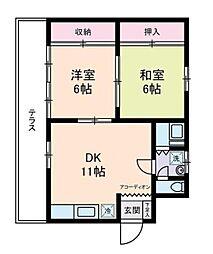 埼玉県さいたま市南区南浦和3丁目の賃貸アパートの間取り