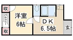 加茂ハイツ[206号室]の間取り