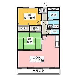 サウスバレー21[1階]の間取り