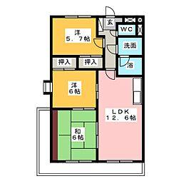 プレミール三郷[7階]の間取り