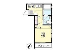 登戸ハウス[203号室]の間取り