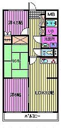 ラ・アミスタ武蔵浦和[105号室]の間取り