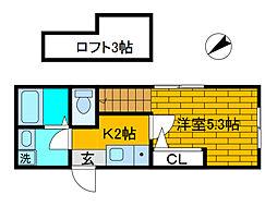 オアゾ相模原矢部[1階]の間取り