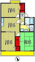 千葉県船橋市東中山2丁目の賃貸アパートの間取り