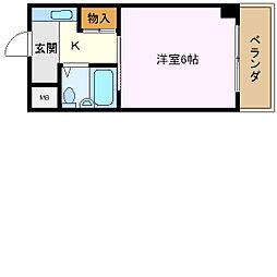 BFレジデンス小阪[605号室]の間取り