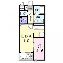 ル・ソレイユ[2階]の間取り