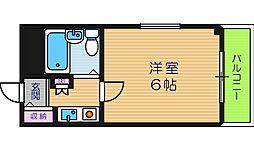 アパルト四天王寺I[2階]の間取り