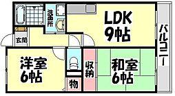 大阪府和泉市尾井町の賃貸マンションの間取り