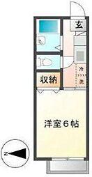 東京都板橋区高島平4丁目の賃貸アパートの間取り