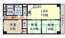シベール勧修寺[506号室号室]の間取り