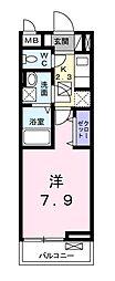 ヌーベル・ オーブ・ヒル[2階]の間取り