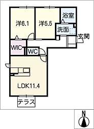 仮)JA賃貸港区茶屋新田土地区[1階]の間取り