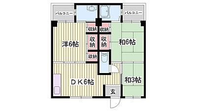 間取り,3DK,面積49.2m2,賃料4.2万円,JR姫新線 余部駅 徒歩25分,,兵庫県姫路市書写台2丁目