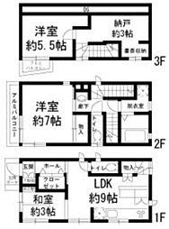 [一戸建] 東京都北区志茂1丁目 の賃貸【東京都 / 北区】の間取り