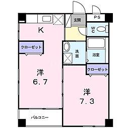 沖縄県糸満市西崎町3丁目の賃貸マンションの間取り