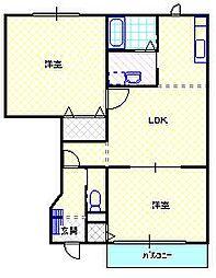 新潟県村上市松山の賃貸アパートの間取り