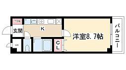 グレイスコート元郷[4階]の間取り