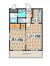 メゾンクレールHiyoshi[406号室号室]の間取り