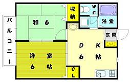 アメニティ田熊[1階]の間取り