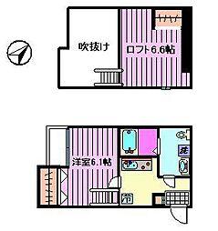ルーチェ(東川口)[105号室]の間取り