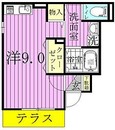 ローズコートYAMAKA[1階]の間取り