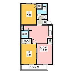 メゾンプレシオA棟[1階]の間取り