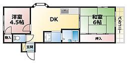青谷ハイツUEDA[3階]の間取り