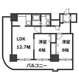 ティアラタワー中島倶楽部(III)[27階]の間取り