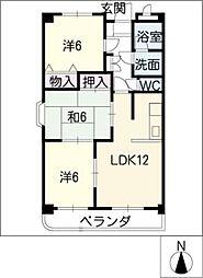 グローハイム[3階]の間取り