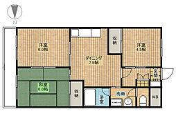 鈴木ガーデンコーポラス[2階]の間取り