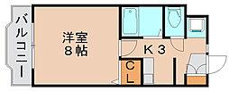 プレスト箱崎ステーション[3階]の間取り