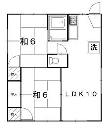 パインハイム西棟[1階]の間取り