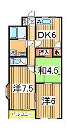 谷川第二マンション[1階]の間取り