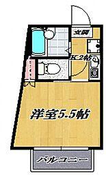 月村マンション[109号室号室]の間取り