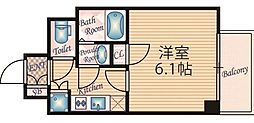 大阪府大阪市北区太融寺町の賃貸マンションの間取り