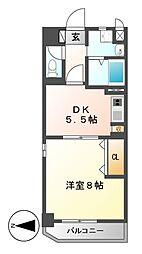 太閤通マンション[5階]の間取り