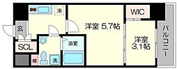 セレニテ福島シェルト[4階]の間取り
