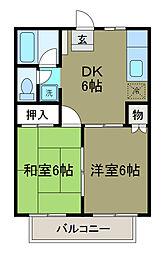 レスペ文京B棟[1階]の間取り