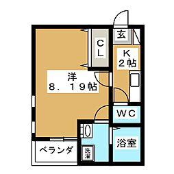 ヴィーブリアン仙台[1階]の間取り