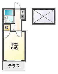 静岡県静岡市駿河区八幡5丁目の賃貸アパートの間取り