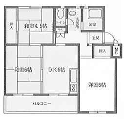 相武台団地 1702[4階]の間取り
