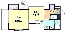 ハイツサーシャA棟[1階]の間取り