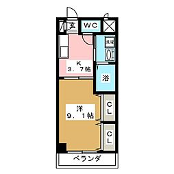 Etoile 本陣[3階]の間取り