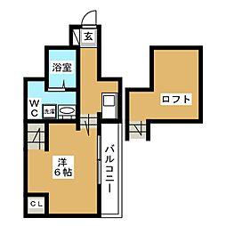 フェリオ箱崎[2階]の間取り