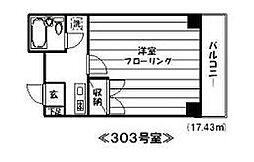 東京都新宿区新宿7丁目の賃貸マンションの間取り