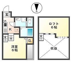 ライカート新栄[1階]の間取り