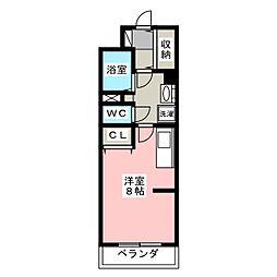 メゾンポプリ[2階]の間取り