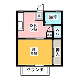 プチコートサカエ[2階]の間取り