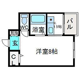 大阪府高槻市八幡町の賃貸マンションの間取り
